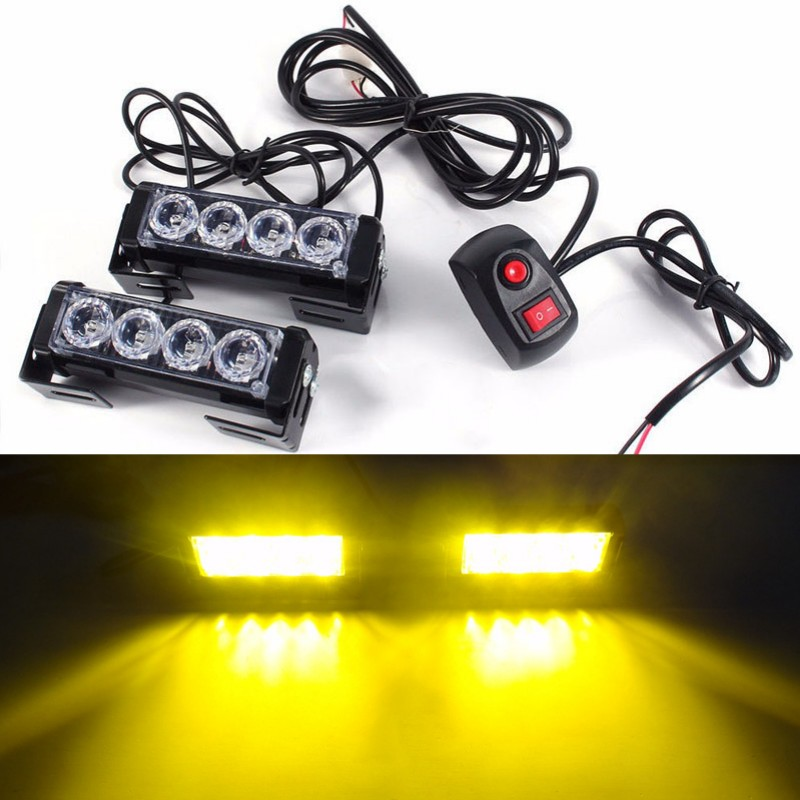 KKmoon 16LEDs 18 Flashing Modes Car Truck Emergency Flash Dash Strobe Light White