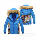 The new children's warm winter coat outerwear boys crazy animal cartoon printed cotton jacket Favorite cartoon clothes for 3-8 Y