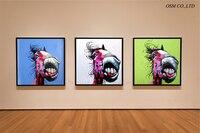 Darmowa Wysyłka Wysokiej Jakości Ręcznie malowane Śmieszne Zwierząt Koń Płótnie Malarstwo Na Ścianę Dekoracyjne Nowoczesny Koń Obraz Olejny