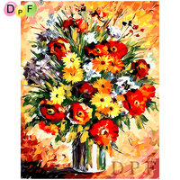 DPF Oil Painting By Numbers No Frame Paint On Canvas Wall crafts Pictures For Living Room Wall art Home Decor vase gift DIY