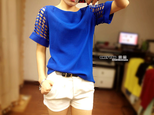 HTB1qhfOGFXXXXbvXXXXq6xXFXXXi - New Summer shirt Short sleeve Chiffon Blouse Tops Clothing 5XL