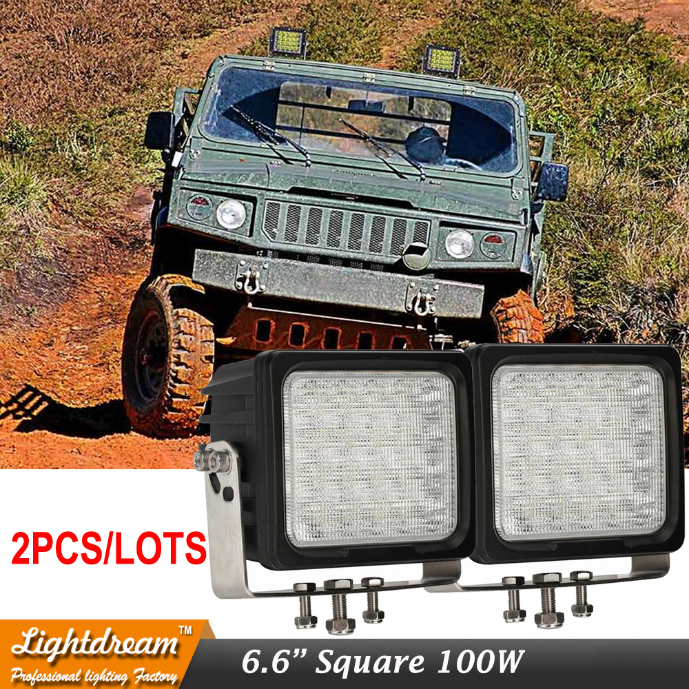 100W Led Heavy Duty Work Driving Offroad light with Stainless Steel Bracket 12v 24v led auxiliary light for suv atv car truck x2 truck diagnostic tool t71 for heavy truck and bus work on vehicles which compliance with j1939 j1587 1708 protocol free shipping