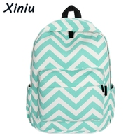 XINIU Brand Women Canvas Sweet Stripe Backpack Fashion Mochila For Teenage Girls School Bags Cute Travel