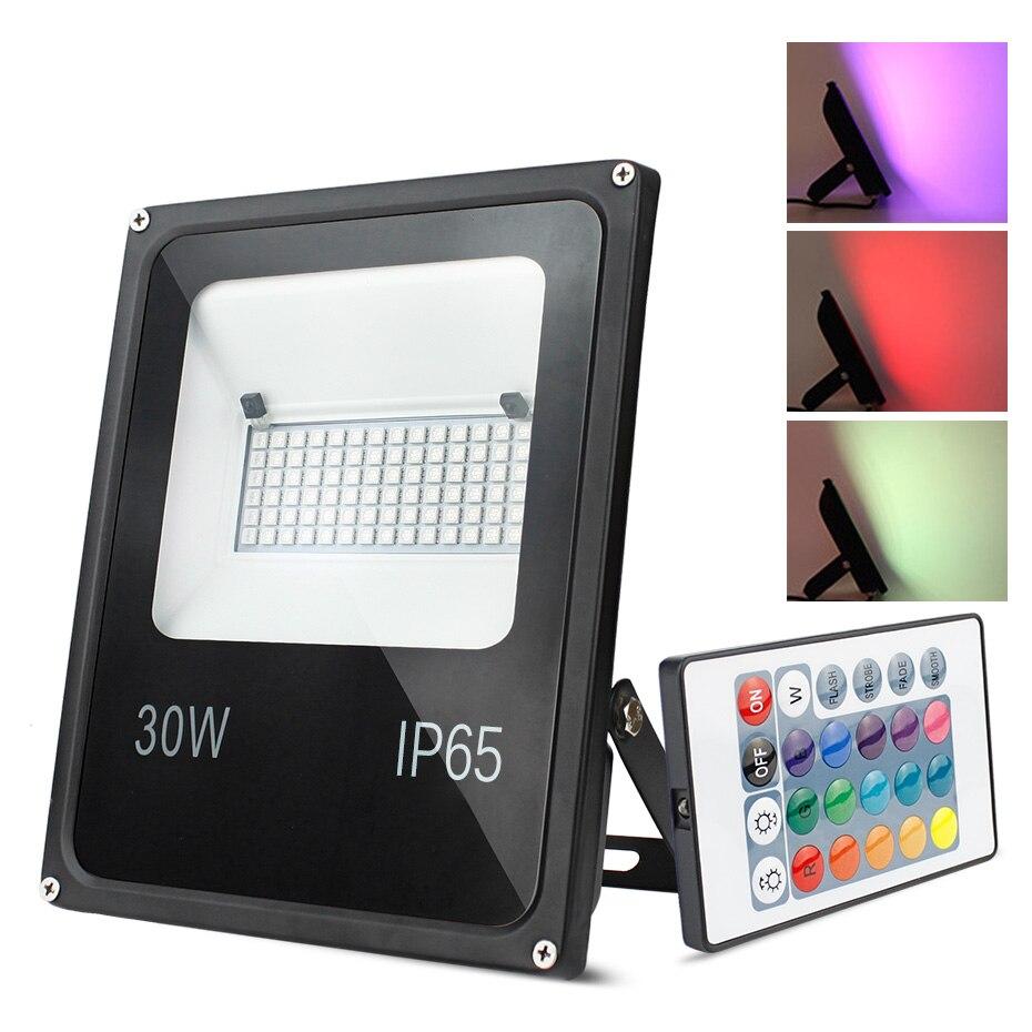 16 couleurs inondation LED rgb lumière 20 W 30 W 50 W 220/240 V Projecteur Foco éclairage LED IP65 étanche réflecteur Projecteur extérieur