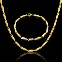 Винтажные Ювелирные наборы для женщин/мужчин, трендовые буквы G, колье, ожерелье, браслет, набор, опт, 3 мм, стальная цепочка для мужчин, подарочный набор