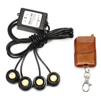 4in1 12V LED Car Emergency Strobe Lights DRL Wireless Remote Control Kit Car Accessories