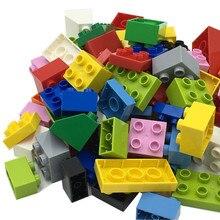 80Pcs/Bag DIY Design building blocks toys for Children Boys kids Compatible with Duploes Big Size brick educational model Toys все цены