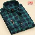 Новый полированный клетчатую рубашку. толстые повседневная одежда рубашки вскользь. классический решетки с длинными рукавами мужские рубашки.
