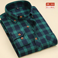 New polished plaid shirt. Thick casual wear casual shirts. Classic lattice long-sleeved men's shirts.
