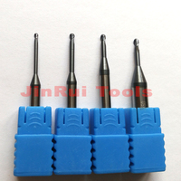 1pc R0 5 1 12 D4 50L 1mm 2Flutes HRC55 Tungsten Solid Carbide Long Neck Ball