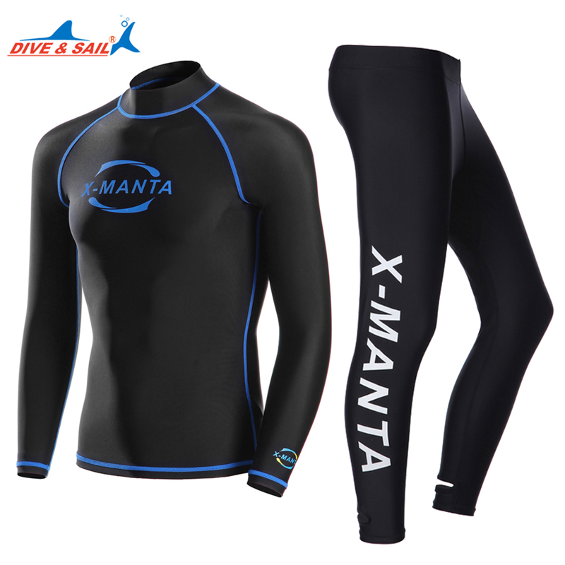 Snorkeling Diving Jacket Body-Suits Sports-Clothes Anti-Uv-Wear Surfing Long-Sleeve Lycra