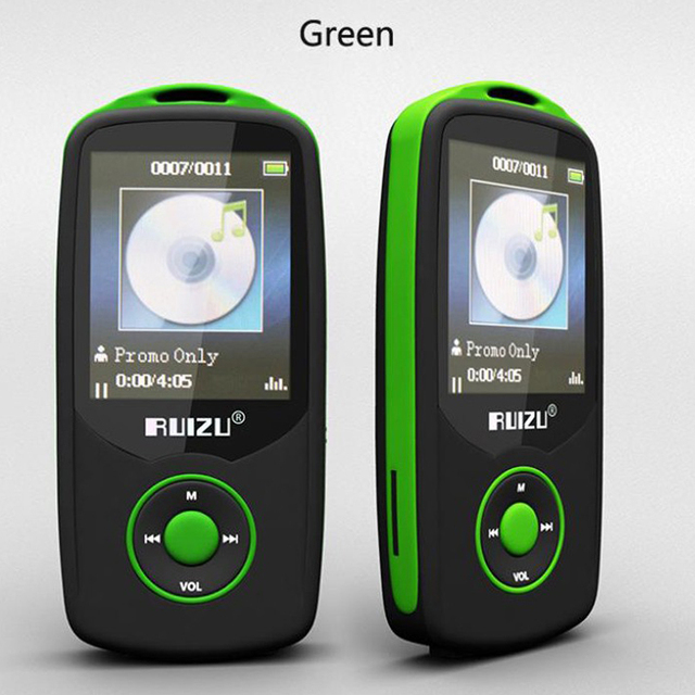 Nueva Original RUIZU X06 Bluetooth Deportes Reproductor de música MP3 8G 100 horas sin pérdidas de alta calidad Grabadora Walkman fm reproductor de mp3