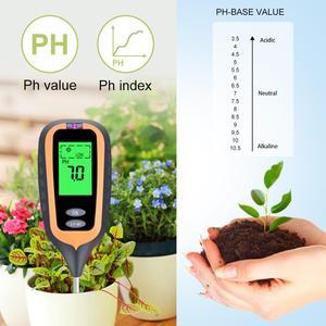 Image 2 - חדש 4 in 1 קרקע בודק PH מד לחות מדדי לחות מדחום צמח אור בעוצמה מטר לגן, שתילה, אדמות חקלאיות