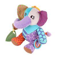 Multifunctional Baby Plush Toys Car Bed Hanging Toy Cartoon Elephant Animal Plush Toy For Newborn Infant Best Gift