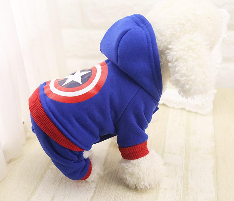 Survêtements très mignons pour votre chien ou chiot captain america