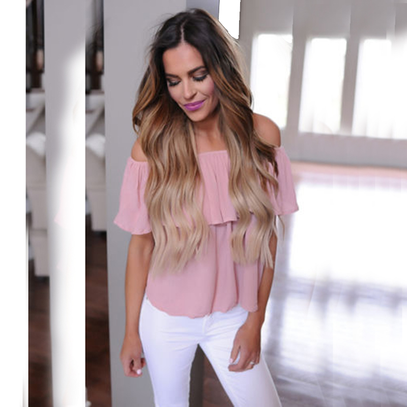 Simplee Apparel sexy off shoulder blouse shirt short sleeve summer tops Elegant party women blouses blusas