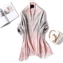Fashion 2018 winter scarf thick warm neck cashmere scarves for women shawls and warps lady pashmina bandanas long size blanket