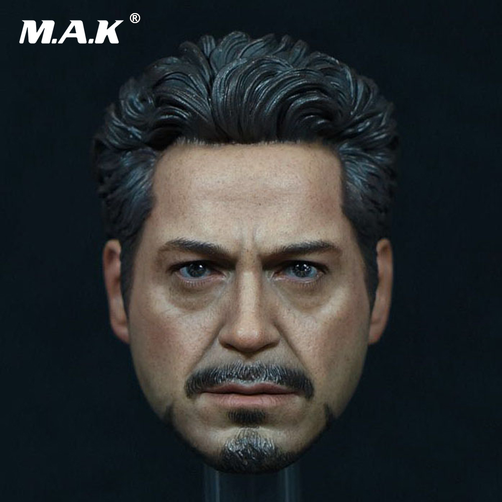In Stock Tony Headplay 1/6 Scale Avengers Iron Man Tony Head sculpt Head Carving Model Fit 12 Action Figure Accessory