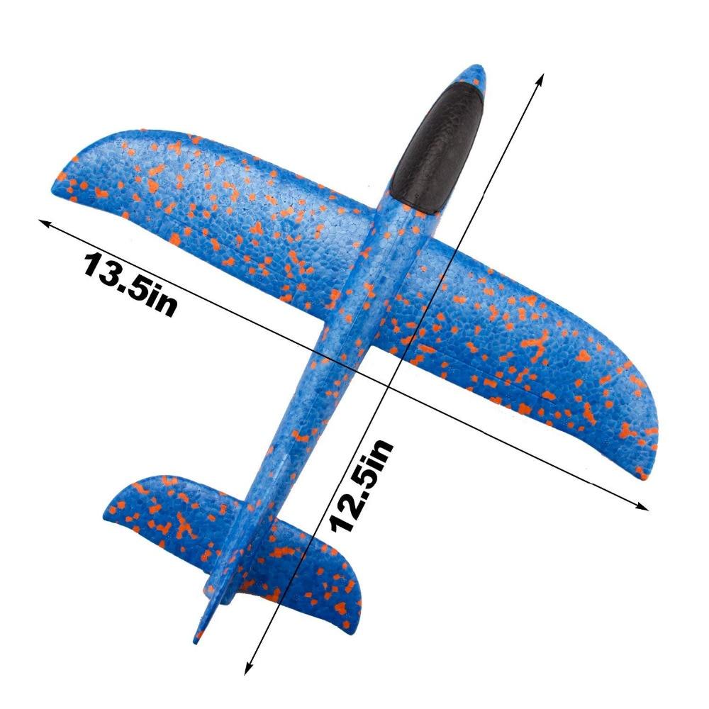 34Cm Foam Plane Throwing Glider Toy Airplane Inertial Foam EPP Flying Model Gliders Outdoor Fun Sports Planes Toy For Children