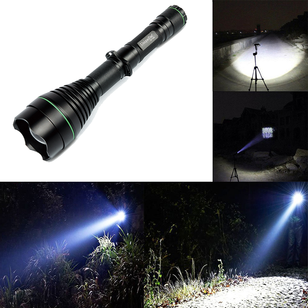 UniqueFire 1508-50mm CREE XML T6 Flashlight With 1200 Lumens Super High Bright Light  1 Mode Adopted  Zoomable Lamp For Bicycle бритва браун 1508 тип 5597