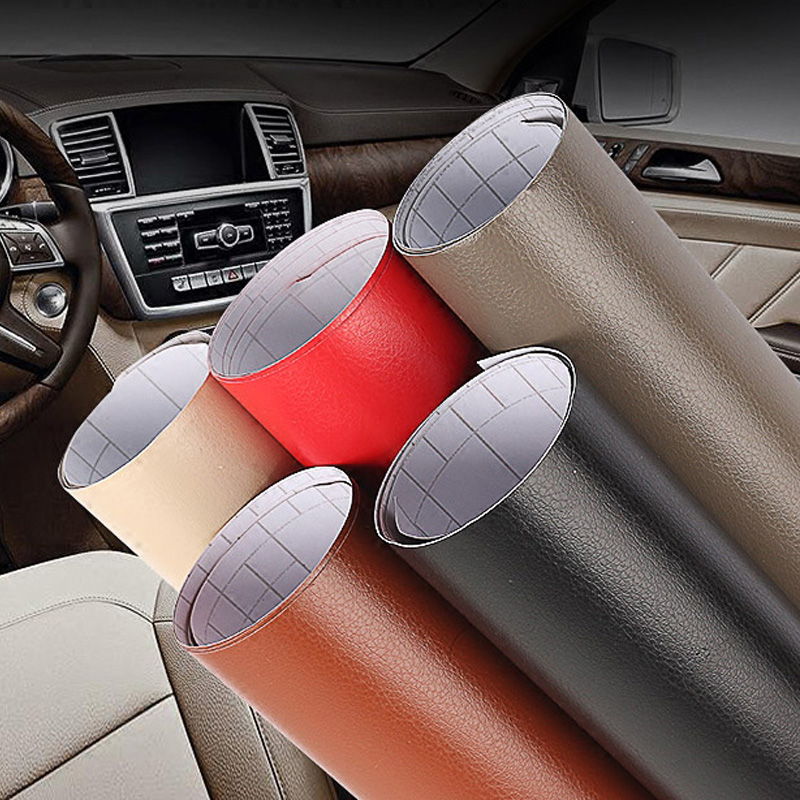 1.52*30m black grey red Leather pattern PVC adhesive vinyl wrap film sticker for auto car body internal decoration vinyl wrap