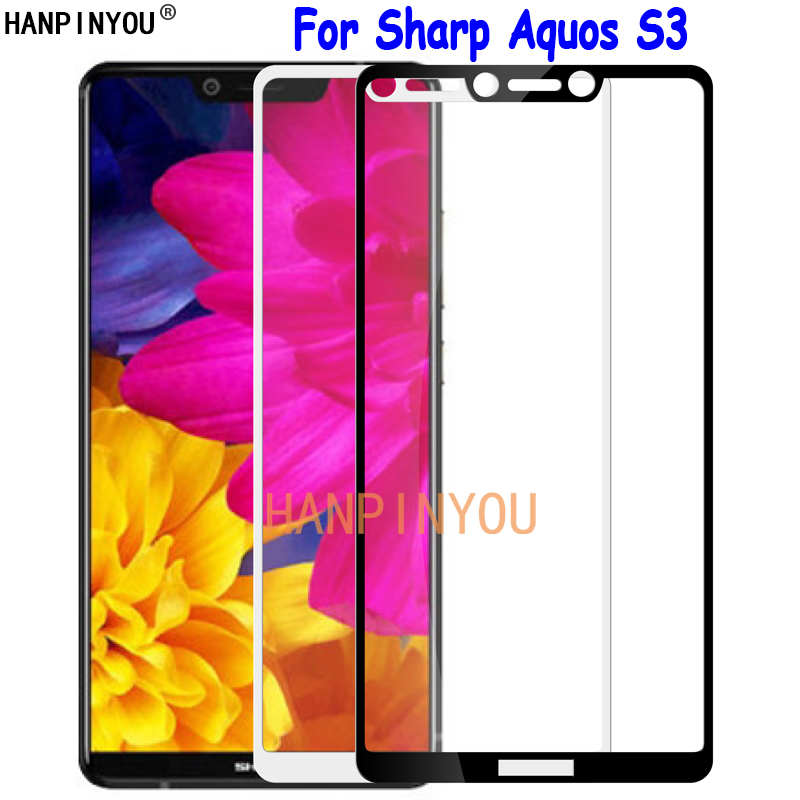 For Sharp Aquos S3 S2 Full Cover Tempered Glass Screen Protector Ultra Thin Explosion-proof Protective Film