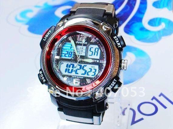 new fashion luxury sport men's 50m waterproof watch electronic quartz digital display + original box AK1163D