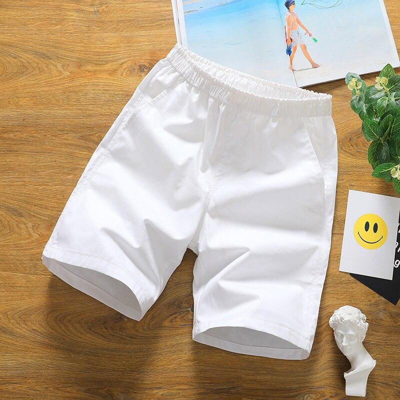 2019 Summer Home Casual Shorts Men ,fashion Plus Size Mens Loose Cotton Shorts , Comfortable Breathable White Shorts Male M-3XL