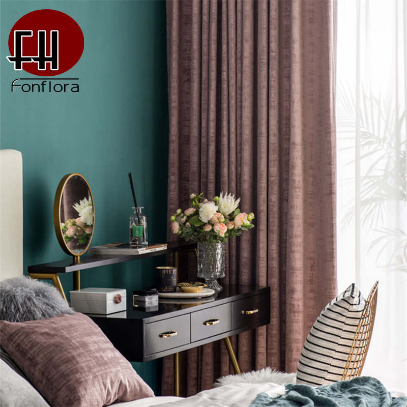 Luxury Blackout Velvet Curtain For Living Room Curtains For Bedroom Red Curtains On The Window Embossing Chaos Pattern Drapes in Curtains from Home Garden