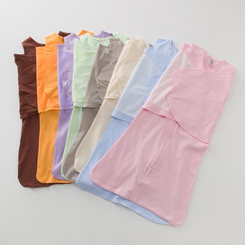 0 ~ 6 Monate Baumwolle Baby Swaddle Wrap Solide Baby Bettwäsche Decken Umschläge Für Neugeborene Weiche Baby Schlafsack Infant Schlaf Säcke Dauerhaft Im Einsatz