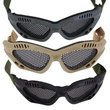 Outdoor Sports Hunting Skiing Snowboard Metal Mesh Glasses Airsoft Net Tactical Shock Resistance Eyes Protect Ski Safety Goggles
