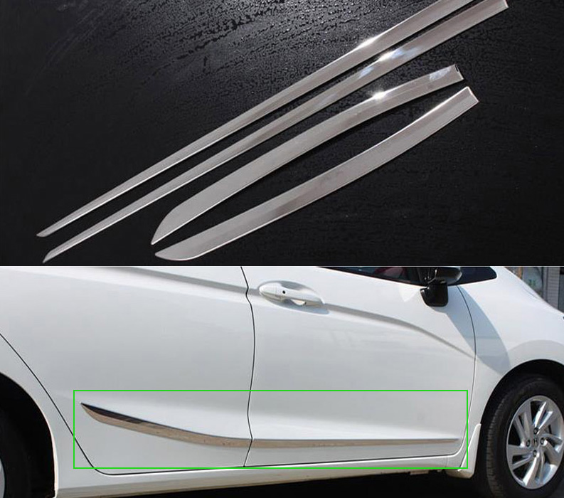 SUNFADA Stainless Steel Car Door Side Body Decoration Trim Car covers For HONDA FIT JAZZ GK5