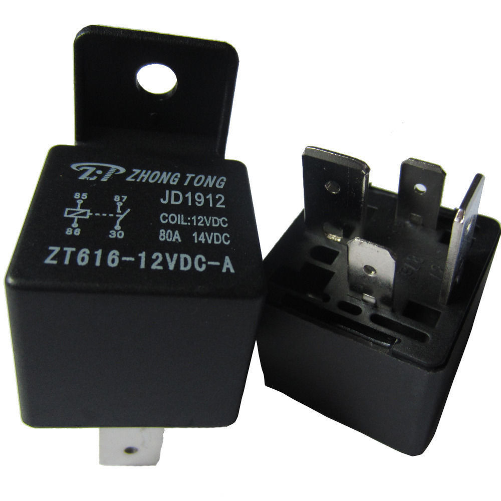 4 Pin Relay Relays Heavy 12V 80A 80 AMP SPST for Car Truck Automotive Motorcycle