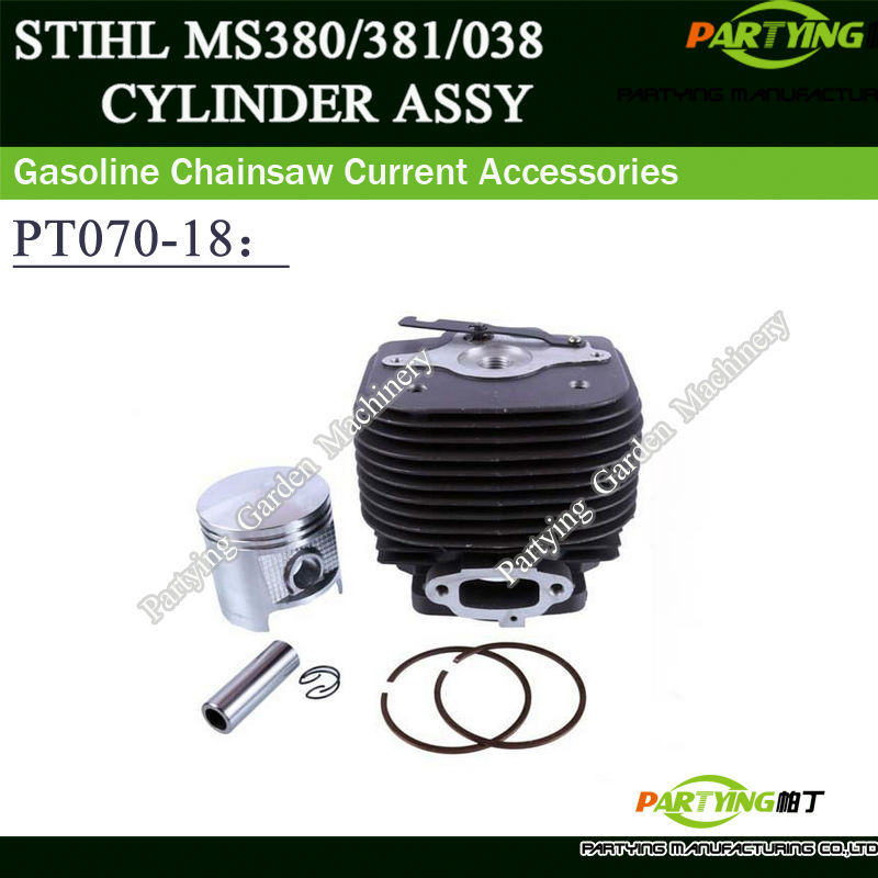 Partying OEM Chainsaw Replacement Parts Cylinder Piston Kit Stihl MS070 090 MS720 Chain Saw 58mm 1106 020 1202 piston assembly 34mm fits zenoah chain saw g2500 2500 free shipping 25cc chainsaw piston kit komatsu chain saw parts