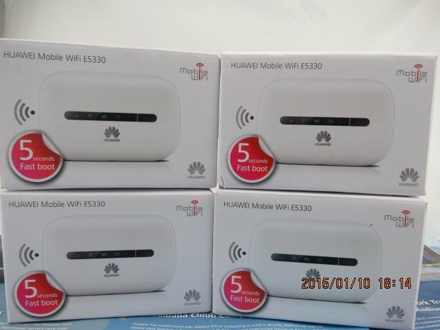 Hot venda desbloqueado huawei e5330 wi-fi hotspot móvel 3g hspa + mode (branco)
