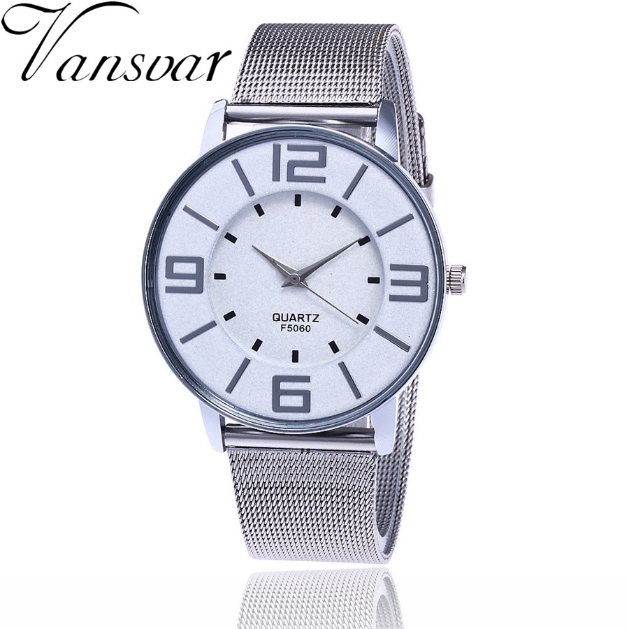 Vansvar Brand Fashion Silver And Gold Mesh Band Wrist Watch Casual Women Quartz Watches Gift Relogio Feminino V68 adjustable wrist and forearm splint external fixed support wrist brace fixing orthosisfit for men and women