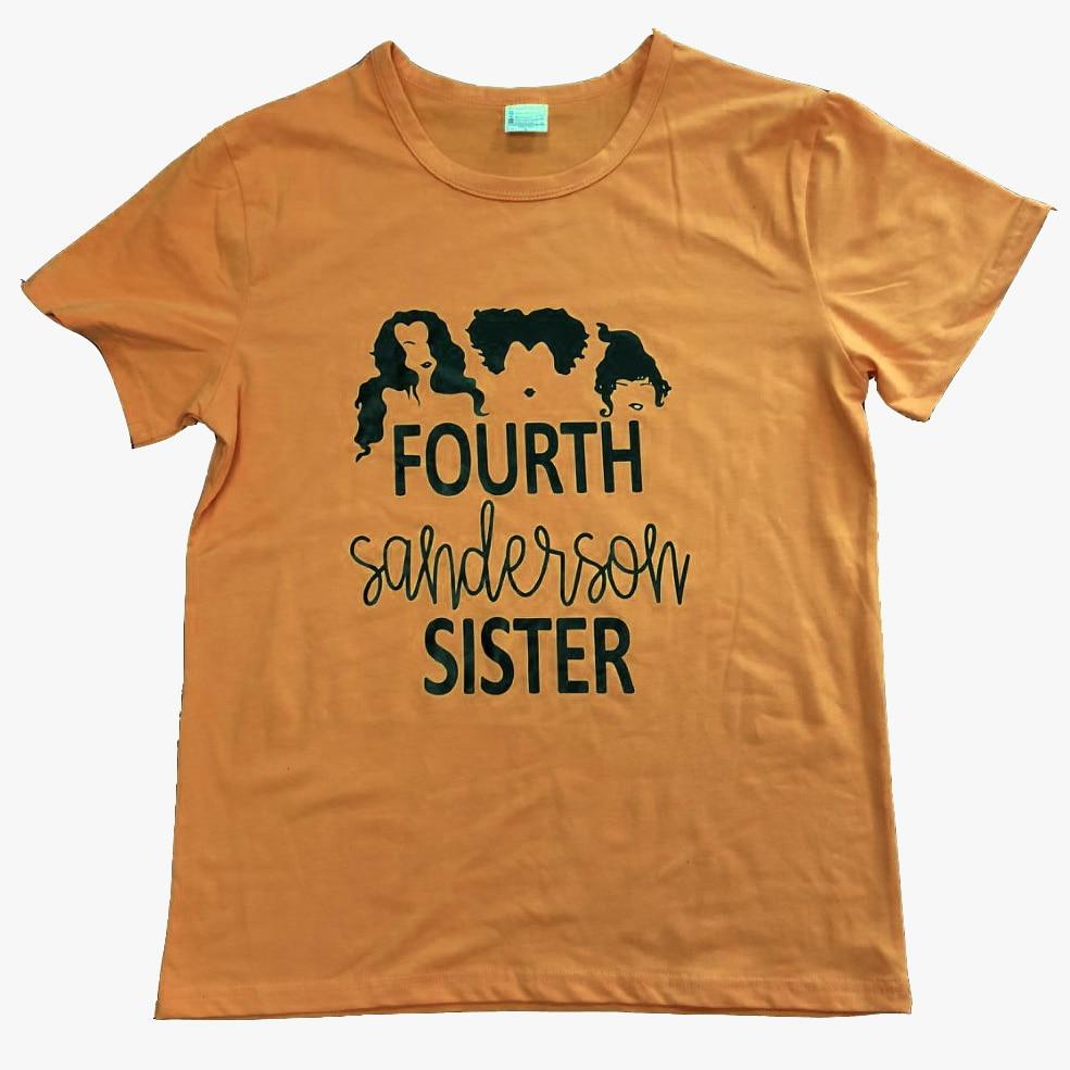 Quarta Irmã Sanderson T Shirt Das Mulheres Legal Engraçado camiseta tees  tops tees Laranja Bruxa do Dia Das Bruxas Dia de Todos Os Santos camisas em  ... e17a618c751