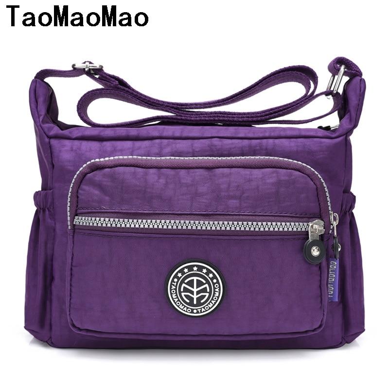 TaoMaoMao Fashion Women Crossbody Bag Shoulder Bag 2017 New Casual Nylon Handbags Messenger Multilayer Bags Bolsos sac a main
