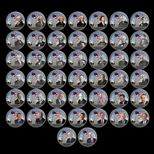 American Silver Coin Set US 45th Series President Home Decorative Challenge Art Ornament 45pcs Metal Crafts