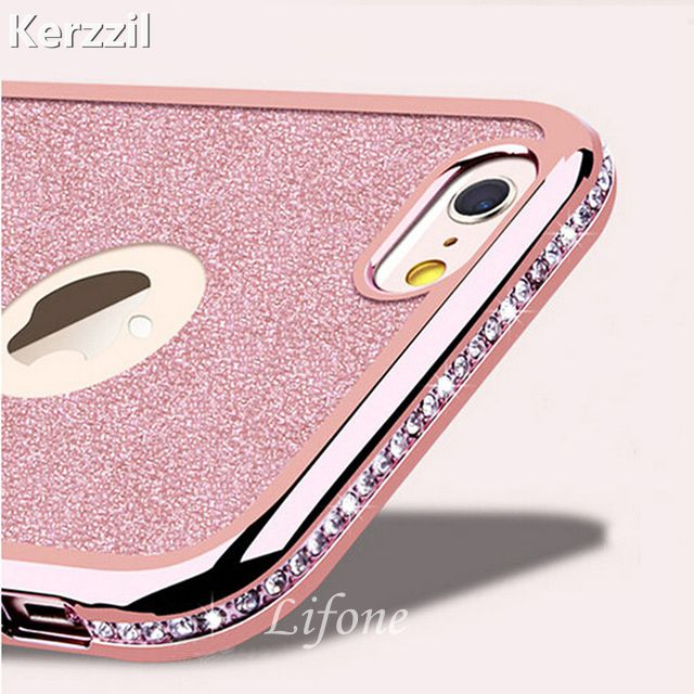 For <font><b>iPhone</b></font> 7 8 <font><b>6</b></font> 6S Plus 5s SE 3D Diamond Rug <font><b>Bumpers</b></font> Soft TPU <font><b>Case</b></font> + Bling Card Cover For <font><b>iPhone</b></font> 11 Pro X XS Max Xr <font><b>6</b></font> 6S Plus image