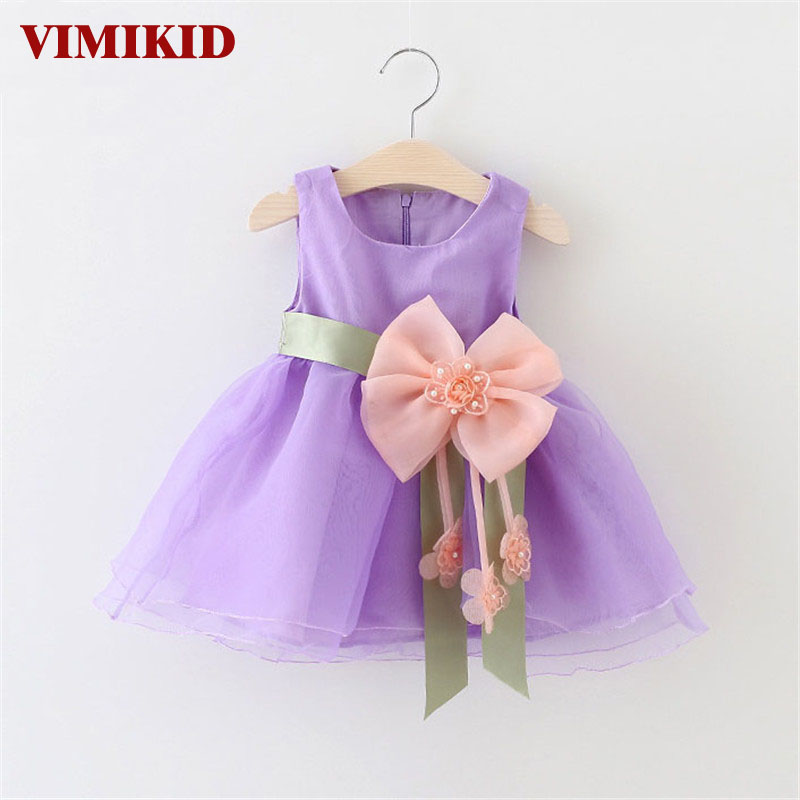 VIMIKID Cool summer sleeveless lace TUTU dress reine des neiges girl princess dress with bow high quality 3D beaded flowe