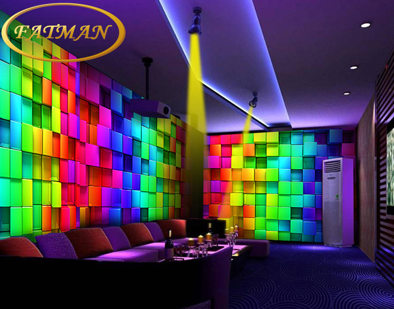 Custom photo wallpaper colours plaid wallpaper 3d for Contemporary resort mural