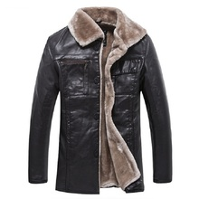 Men Fashion Leather Jacket Fur Collar Short Paragraph Slim Large Size Warm Winter Jacket Men Leather Jacket Coat Brand New