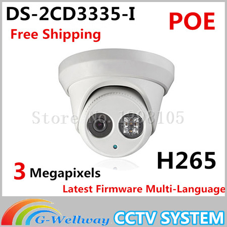 New model DS-2CD3335-I replace DS-2CD3332-I 3MP IR Network Dome IP security CCTV poe camera H265 IPC original new arrival ds 2cd2t35 i5 3mp exir bullet poe 1080p cameras poe cctv ip network cameras ir h265 ipc