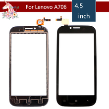 4.5 For Lenovo A706 A 706 LCD Touch Screen Digitizer Sensor Outer Glass Lens Panel Replacement 4 5 for lenovo a516 a 516 lcd touch screen digitizer sensor outer glass lens panel replacement