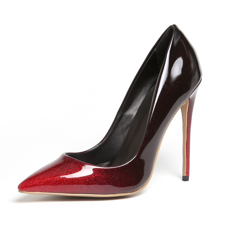 THEMOST 2017 New Fashion Shoes woman Pointed Toe Pumps Big Size 34-48 Spring Good quality Thin heel Handmade Wedding Shoes plus big size 34 52 shoes woman 2017 new arrival wedding ladies high heel fashion sweet dress pointed toe women pumps e 177