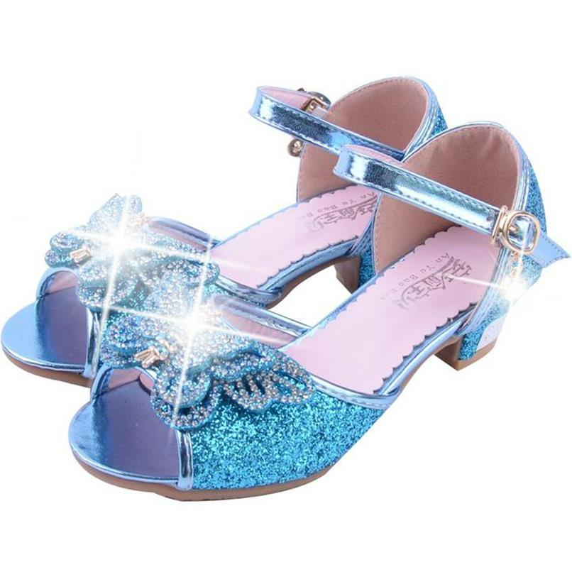 c3f0a8bccfb623 HaoChengJiaDe Girls Fancy Sandals Blue Pink Silver Bling Bling Kids Party  Shoes Wedding Fashion Elegant Dress Shoes For 4 12Year-in Sandals from  Mother ...