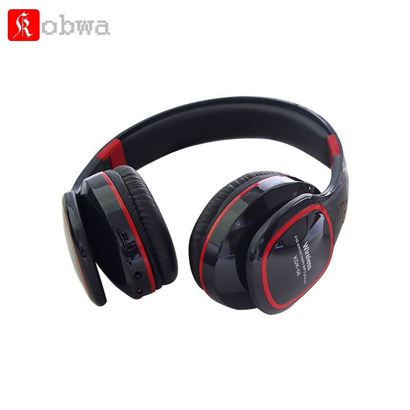 Kobwa Portable Wireless Bluetooth Headphone Foldable Music Earphone with Microphone FM Radio TF card Stereo Headset Earphons portable professional 2 4g wireless voice amplifier megaphone booster amplifier speaker wireless microphone fm radio mp3 playing