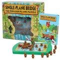 Дети игра-головоломка винни крест моста Через Реку Логическое мышление лабиринт задача интеллектуальные игрушки 40 quesions brinquedos meninos