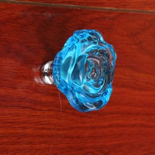 fashion deluxe Dia 54mm glass crystal rose win cabinet watch tv table handles red blue clear black pink green glass drawer knobs
